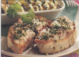 Tournedos de saumon aux herbes