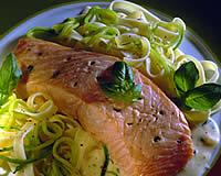 Pavé de saumon au basilic