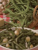 Haricots verts mange-tout à l'étouffée